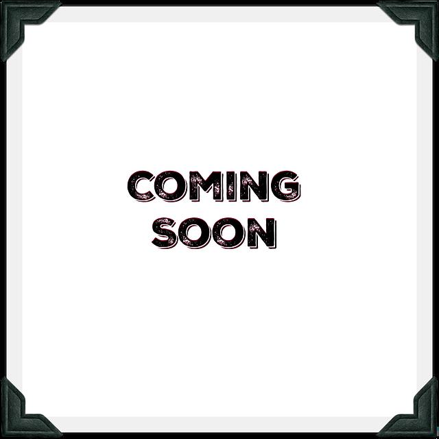 """Teste """"Coming Soon"""" au centre d'un cadre gris à coins noirs"""