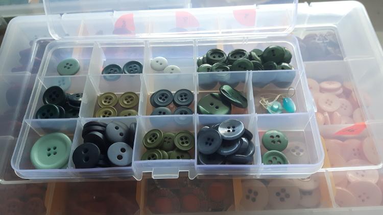 Boite de rangement de boutons atelier Rêve à Soie - petit modèle