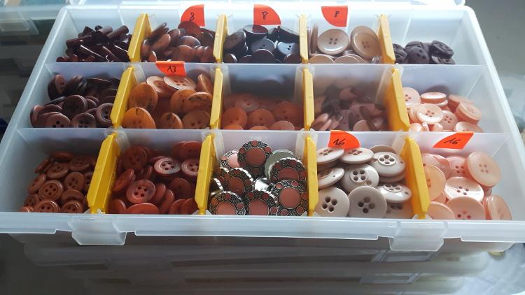 Boite de rangement de boutons atelier Rêve à Soie - grand modèle