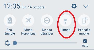 Appli lampe torche smartphone