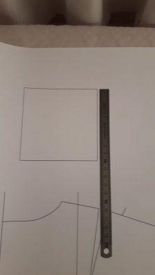 Patron imprimé vérification échelle