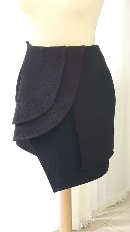 Jupe drapée asymétirque - une réalisation d'une élève des ateliers Rêve à Soie