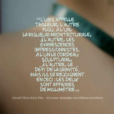 Citation du livre Dior 30 avenue Montaigne