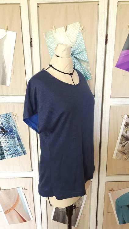 Tshirt kimono réversible - une réalisation-exemple des ateliers Rêve à Soie