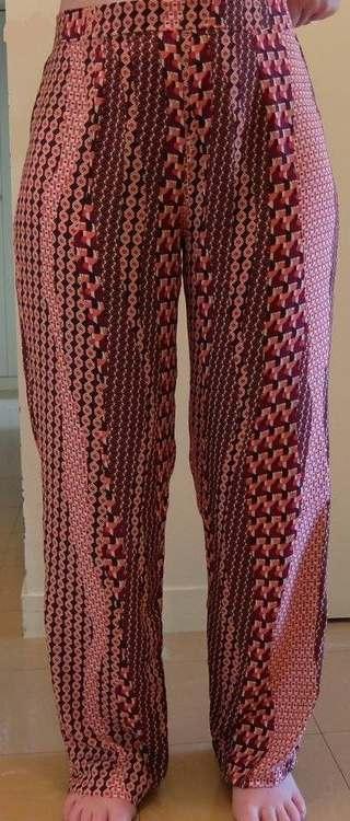 Pantalon large d'été - une réalisation d'une élève des ateliers Rêve à Soie