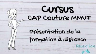 page d'accueil du cursus de préparation au CAP couture