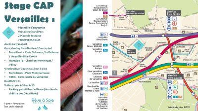 Plan d'accès stage CAP à Versailles
