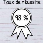 taux réussite de 98% à l'examen