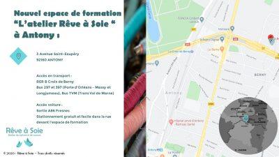 """Plan d'accès à l'espace de formation """"l'atelier Rêve à Soie"""""""