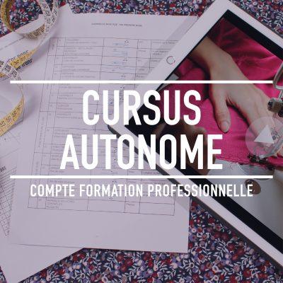 cursus autonome préparation au CAP couture MMVF