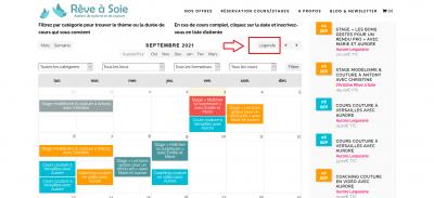 Aide en ligne consultation calendrier-planning