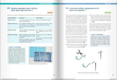 """Exemple page du livre """"Mes techniques de couture"""" de C. CHARLES"""